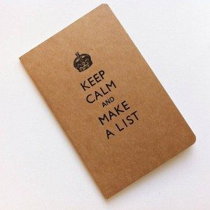keep calm make list